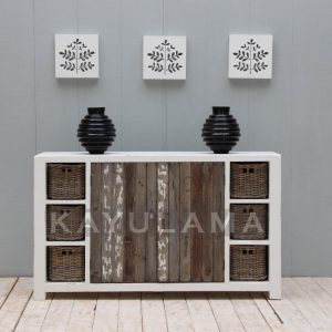 recycled pine storage cabinet