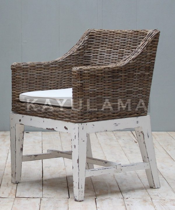 Reclaimed Pine Rattan Chair Furniture