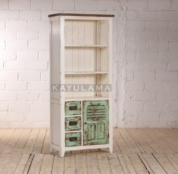 Open Reclaimed Pine Bookcase Storage