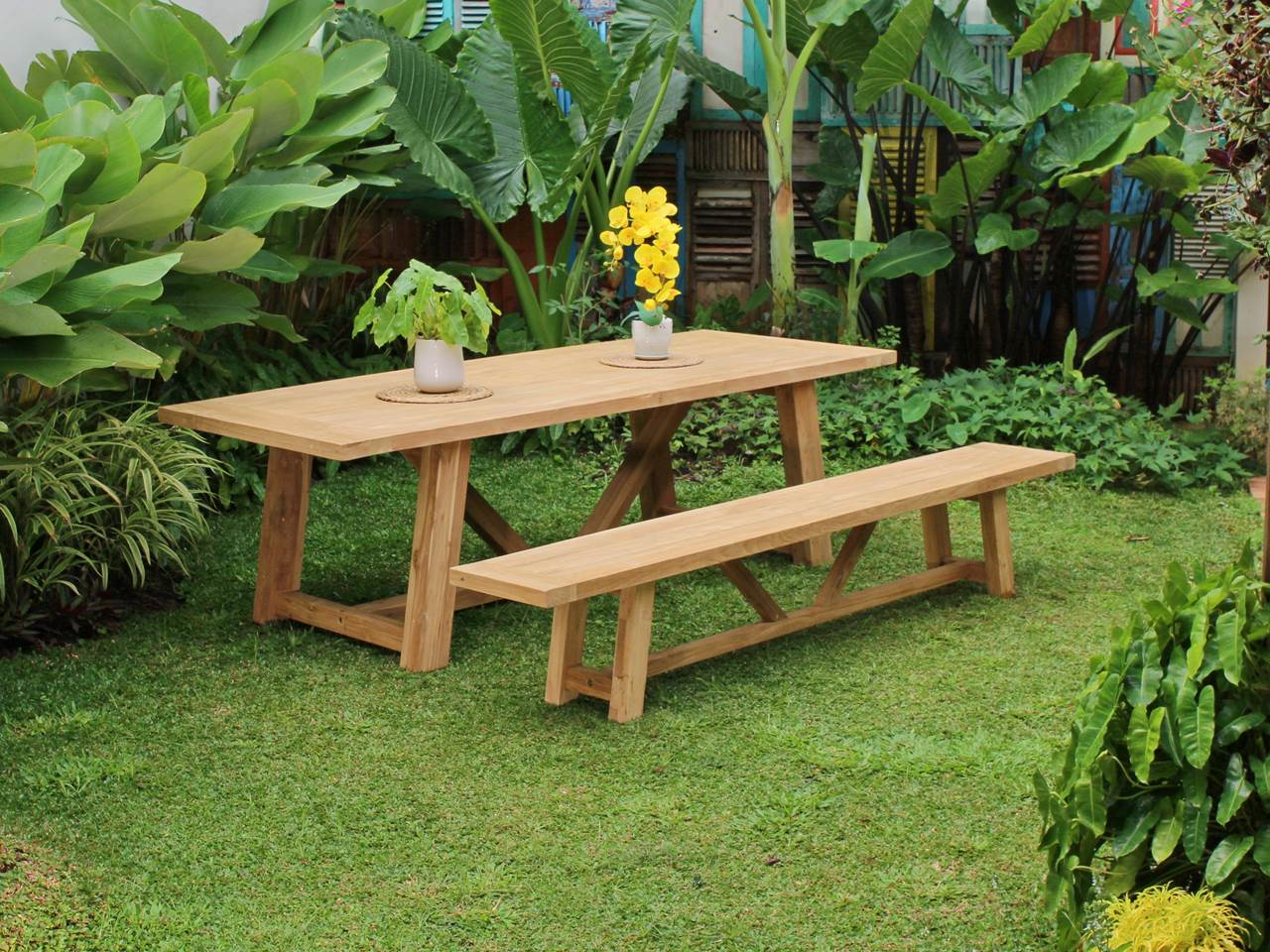 Teak Outdoor Furniture DANKEE-SET-TABLE