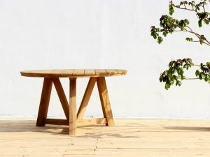 Teak Outdoor Round Dining Set