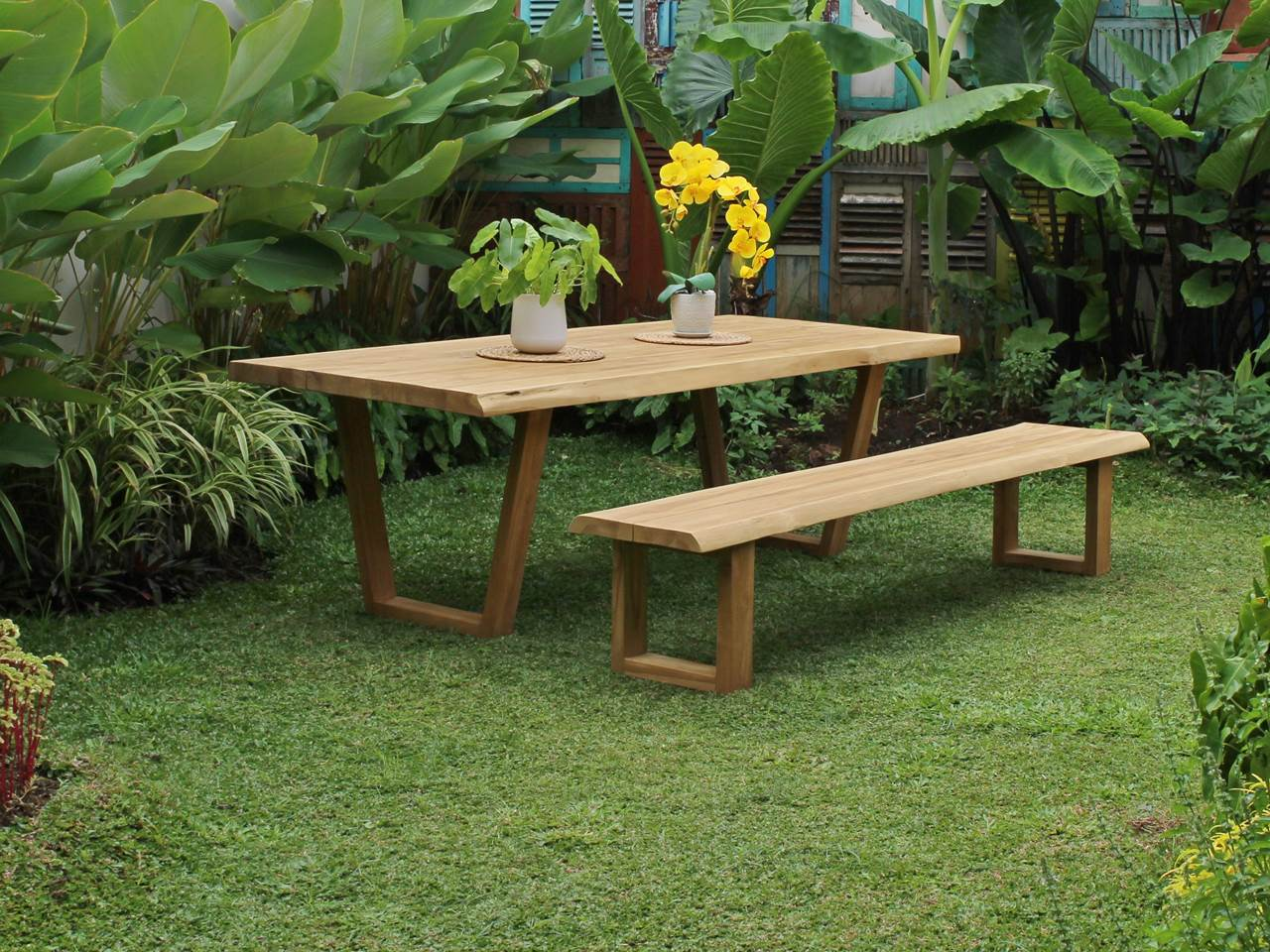 Teak Outdoor Furniture MASSIVE-TECTONA-BENCH