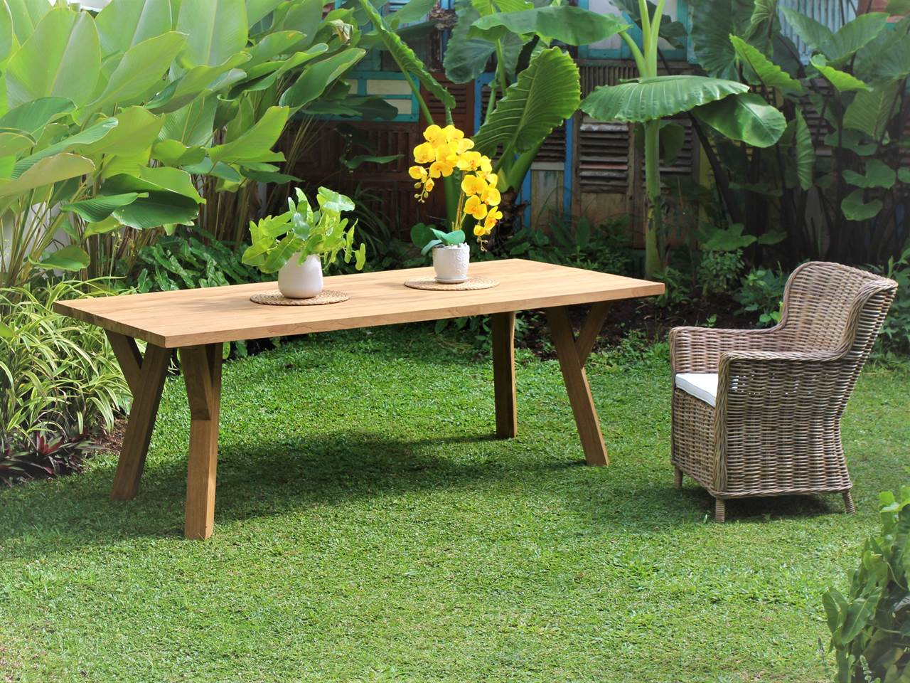 Teak Outdoor Furniture SANDINAVIAN-OUTDOOR-TABLE