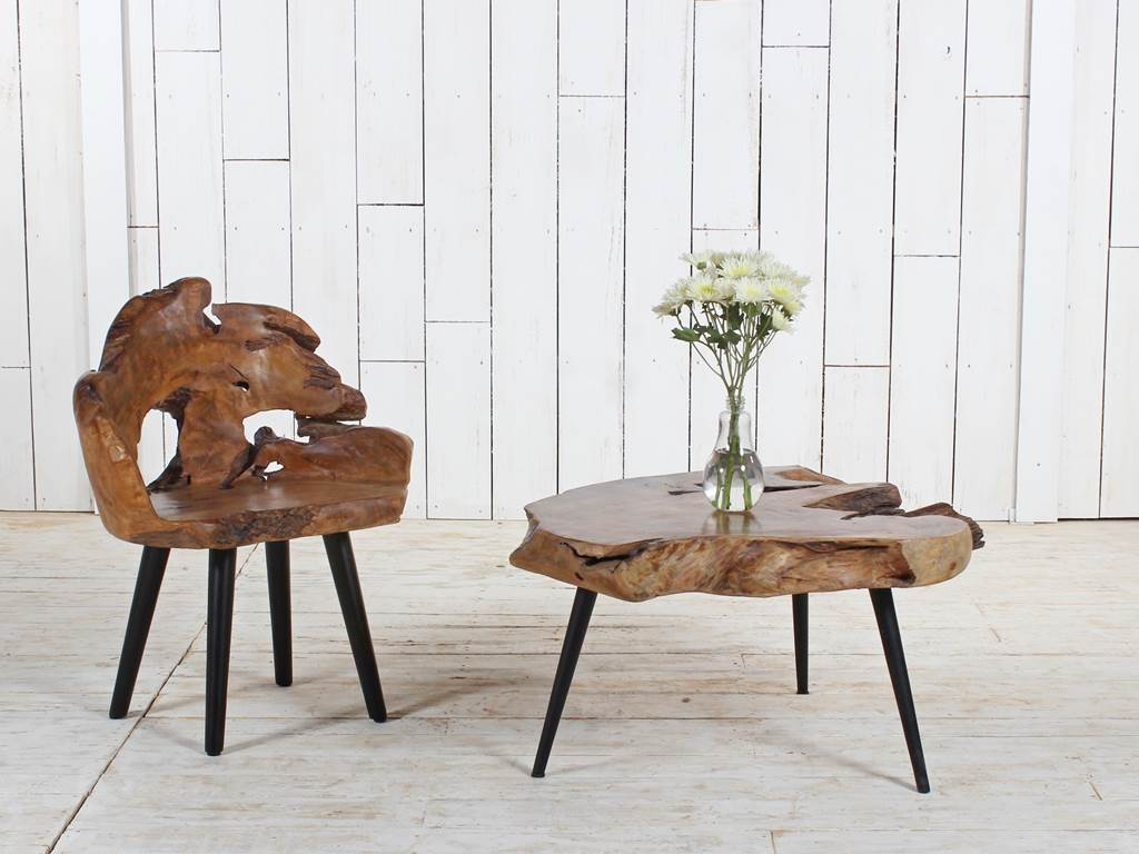 Organic Furniture teak-root-furniture-coffee-table